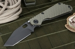 Strider Knives SNG GG Tanto Ranger Green and Black Folding Knife