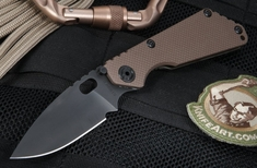 Strider Knives SNG Coyote Tan and Black Folding Knife
