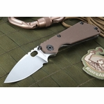 Strider Knives SNG Coyote Tan Heat Flamed Tactical Folding Knife - OUT OF STOCK