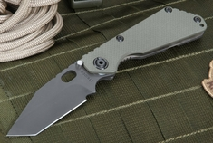 Strider Knives SNG Tanto Ranger Green and Black Blade Folding Knife