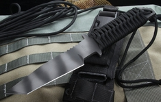 Strider Knives WB MOD 10 Black Cord Tactical Fixed Blade - SOLD