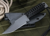 Strider Knives WP Black Clip Point Tactical Fixed Blade