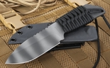 Strider MFS Black and Tiger Stripes Fixed Blade