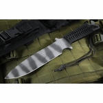 Strider MK1 A  Black Cord Tiger Stripe Tactical Fixed Blade Knife - SOLD