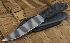 Strider MK1-C Black Tiger Stripes Gunner Grip Fixed Blade