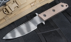 Strider MT MOD 10 SS GG Coyote Tan Gunner Grip Tactical Fixed Blade Knife