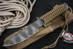 Strider MTL SS Coyote Tan Cord Wrap Tactical Fixed Blade Knife