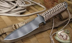 Strider MT-SS Tan Digital Camo Cord Fixed Blade