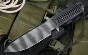 Strider MTL Spearpoint Black and Tiger Tactical Fixed Blade - SOLD