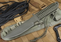 Strider MT SS Ranger Green Cord and Ranger Green Cerakote Fixed Blade
