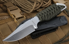 Strider PR Ranger Green Cord Stone Washed Blade