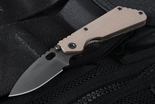 Strider PT Coyote Tan and Flamed Tactical Folding Knife - SOLD