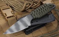 Strider SA Ranger Green Cord and Tiger Stripes Fixed Blade