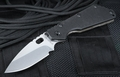 Strider SMF Black Hollow Grind Tactical Folding Knife
