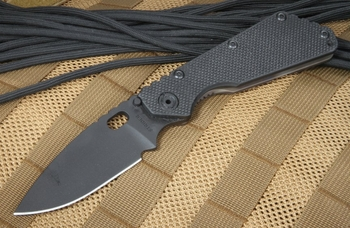 Strider SMF Black on Black Tactical Folding Knife