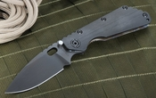 Strider SMF CC Black on Black with Heat Flamed Handle