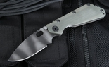 Strider SMF CC Green Tiger Stripe, Stonewashed Folding Knife