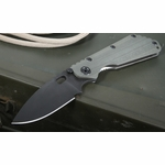 Strider SMF CC Ranger Green - Black Blade - Stonewashed Frame Folding Knife - SOLD