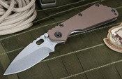 Strider SMF Coyote Tan 3/4 Hollow Grind Tactical Folder