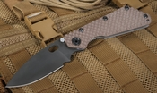Strider SMF GG Coyote Tan Black Blade Tactical Folding Knife