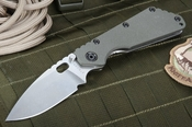 Strider SMF Ranger Green and Stone Washed Tactical Folding Knife