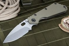 Strider SMF 3/4 Hollow Grind Ranger Green Tactical Folding Knife