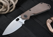 Strider SNG CC S-30V Coyote Tan and Stone Washed Tactical Folding Knife