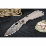 Strider SNG CC Digicam Coyote Tan Folding Knife - SOLD