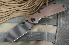 Strider SNG CC T  Tiger Stripes Coyote Tan Tactical Folding Knife