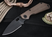 Strider SNG CC Coyote Tan Black Blade Folding Knife