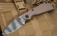 Strider SNG Coyote Tan Tiger Stripes Tactical Folding Knife
