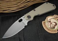 Strider SNG Ranger Green Stone Washed Folding Knife - CTS-40CP Steel