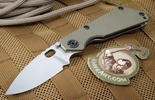 Strider SNG Ranger Green and Stone Washed Tactical Folding Knife