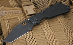 Strider SNG T Black on Black Tactical Folding Knife