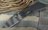 Strider SNG T Black Tiger Stripes Tactical Folding Knife - SOLD