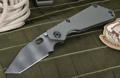 Strider SNG T Ranger Green and Tiger Stripes Tactical Folding Knife