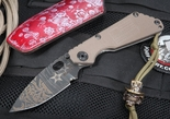 Strider / Starlingear Uncle Slickster SNG Folding Colab Knife - Tan