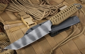 Strider TES Coyote Tan and Tiger Stripes Fixed Blade