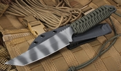 Strider Knives TES Ranger Green and Tiger Stripes Fixed Blade