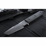 Strider VB GG SS Gunner Grip Spine Serrations Black Fixed Blade - SOLD