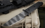 Strider WB MOD 10 Black Gunner Grip Tactical Fixed Blade Knife