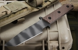 Strider WB MOD 10 Coyote Tan Gunner Grip Tactical Fixed Blade Knife