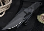 Strider WP Clip Point Black Gunner Grip Tactical Fixed Blade Knife