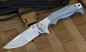 Brian Tighe - Tighe Rade Blue Anodized High Polished Folder