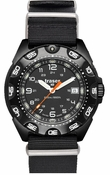 Traser Tornado Pro Black PVD - NATO Strap - Tritium Illumination Tactical Watch