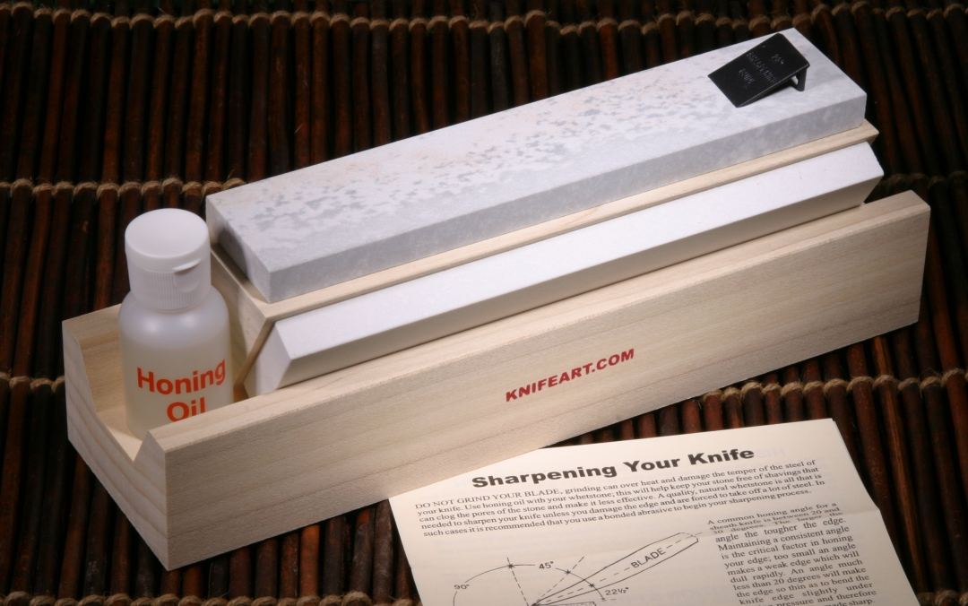 TRI-STONE Arkansas Sharpening Stones  - Knife Sharpening Stones