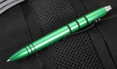 Tuff Writer Pens Mini Click - Green Aluminum Pen