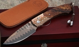 William Henry B12 Upland Mokume and Damascus Folding Knife