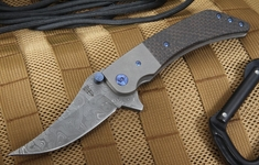 Will Zermeno Damascus and Lightning Strike Tactical Folding Knife