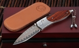 William Henry B05 Iberian Damascus Folding Knife